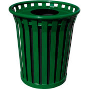 Wydman 36 Gallon Receptacle with Flat Top Lid - Green