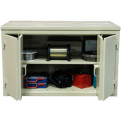 Strong Hold Cabinet Workbench W/Bi-Fold Doors