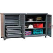 """Strong Hold Cabinet Workbench W/Hidden Drawer Storage 60"""" W X 36"""" D X 28"""" H"""