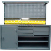 Cabinet Workstation With Riser