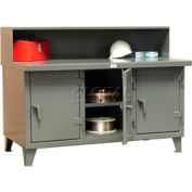 """Strong Hold Multi-Shift Workbench - 96""""W x 30""""D x 34""""H"""