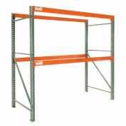 "Global Tear Drop Pallet Rack Starter 48""W X 48""D X 120""H"