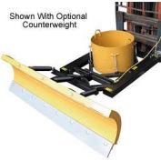 """7' Wide Fork Lift Snow Plow Blade for 5-1/2"""" Wide Forklift Forks"""