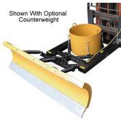 """7' Wide Fork Lift Snow Plow Blade for 7-1/2"""" Wide Forklift Forks - SPB-756"""