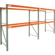 "Global Tear Drop Pallet Rack Add-On 120""W x 42""D x 144""H"