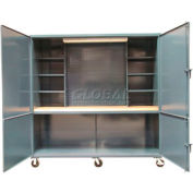 """Mobile Cabinet  Site Workbench Station - 96""""W x 36""""D x 90""""H"""