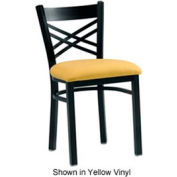 "Cross Back Chair 17-1/2""W x 17""D x 31""H - Black"