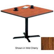 "Square Table with X-Base 24""W x 24""D x 29""H - Medium Oak"