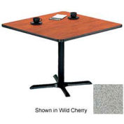 """Square Table with X-Base 24""""W x 24""""D x 29""""H - Gray Nebula"""