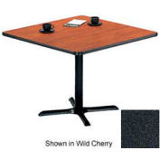 """Square Table with X-Base 24""""W x 24""""D x 29""""H - Graphite Nebula"""