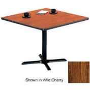 "Square Table with X-Base 36""W x 36""D x 29""H - Medium Oak"