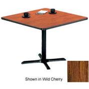 "Square Table with X-Base 48""W x 48""D x 29""H - Medium Oak"