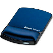 Fellowes®  Mouse Pad / Wrist Support With Microban® Protection Sapphire - Pkg Qty 4