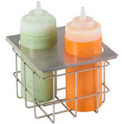 Server Cold Table Twin Bottle Holder, Holds (2) 16 Oz. Squeeze Bottles