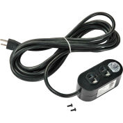 Global Industrial™ Dual Sided Electrical Outlet with 15 FT Power Cord - ETL, cETL approved
