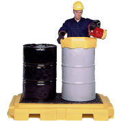 UltraTech Ultra-Spill Pallet Plus Containment Pallet P2 2-Drum with Drain 9611