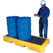 UltraTech Ultra-Spill Pallet Plus Containment Pallet P3 3-Drum with Drain 9627