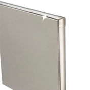 "Stainless Steel Bathroom Partition Panel - 54-3/4"" W x 58"" H"