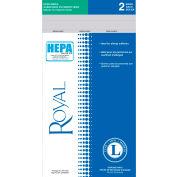 Royal Commercial TYPE L, HEPA Media Disposable Bags - 2 per Pack - Pkg Qty 2