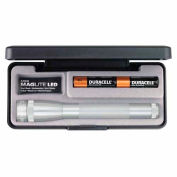 Maglite® SP22107 2 Cell AA Mini LED Flashlight Silver