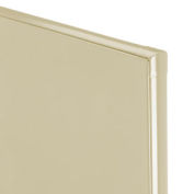 "Steel Partition Panel - 54-3/4""W x 58""H (Almond)"