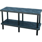 """Plastic Work Bench with Solid Top - 66""""W x 24""""D x 36""""H"""