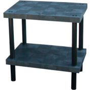 "Plastic Work Bench with Solid Top - 36""W x 24""D x 36""H"