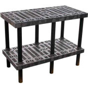 "Plastic Work Bench with Grid Top - 48""W x 24""D x 36""H"