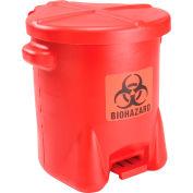 Eagle 14 Gallon Safety Biohazardous Waste Can, Red - 947BIO