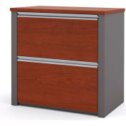 """Bestar® Lateral File With Top (Unassembled) - 30"""" - Bordeaux & Slate - Connexion Series"""