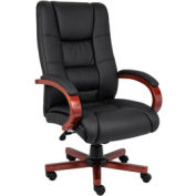 High Back Executive Wood Finished Chair, Cherry