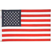 8 x 12' Nyl-Glo US Flag with Embroidered Stars & Lock Stitching