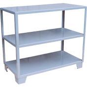 Welded Steel Shelving, 3 Shelves 18 x 48 Gray