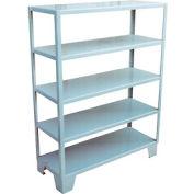 Welded Steel Shelving, 5 Shelves 18 x 48 Gray
