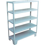 Welded Steel Shelving, 5 Shelves 24 x 36 Gray