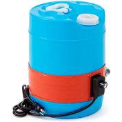 BriskHeat® Silicone Rubber Pail Heater For 5 Gallon Plastic Pail, 50-160°F, 120V
