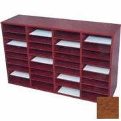 36 Compartment Literature Organizer - Medium Oak Laminate