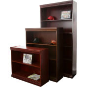 "Jefferson Traditional Bookcase 84"" H, Mahogany"