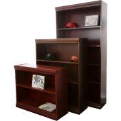"Jefferson Traditional Bookcase 36"" H, Mahogany"