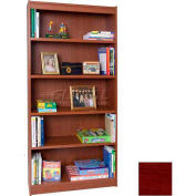 "72"" Laminate Bookcase, Mahogany"