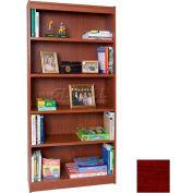 """84"""" Laminate Bookcase, Mahogany"""