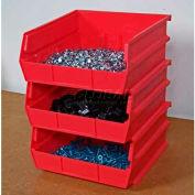 "Storability Bins 10-3/8""D x 10""W x 5""H Red (6 pc)"