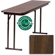 "Training-Seminar Table, Off-Set Folding Leg, 18""x 60"", Walnut Top"