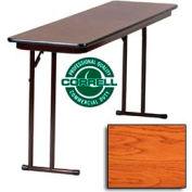 """Correll Folding Seminar Table - Laminate - 18""""x 60"""" - Medium Oak"""