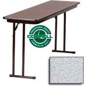 "Correll Folding Seminar Table - Laminate - 18""x 60"" - Gray Granite"
