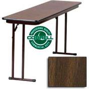 "Correll Folding Seminar Table - Laminate - 18""x 72"" - Walnut"