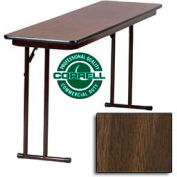 "Correll Folding Seminar Table - Laminate - 18""x 96"" - Walnut"