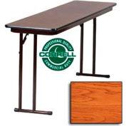 "Training-Seminar Table, Off-Set Folding Leg, 18""x 96"", Medium Oakt Top"