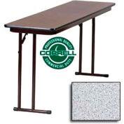"Training-Seminar Table, Off-Set Folding Leg, 18""x 96"", Gray Granite Top"