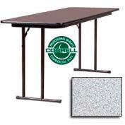 "Training-Seminar Table, Off-Set Folding Leg, 24""x 60"", Gray Granite Top"